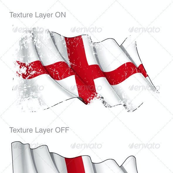 England Flag Grunge