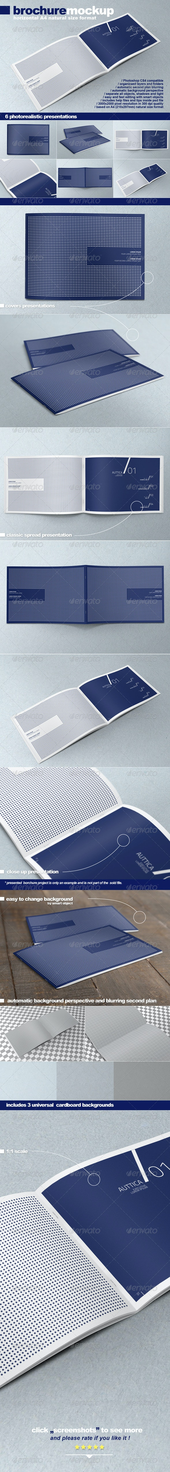 Horizontal A4 Brochure Mock-up - Brochures Print