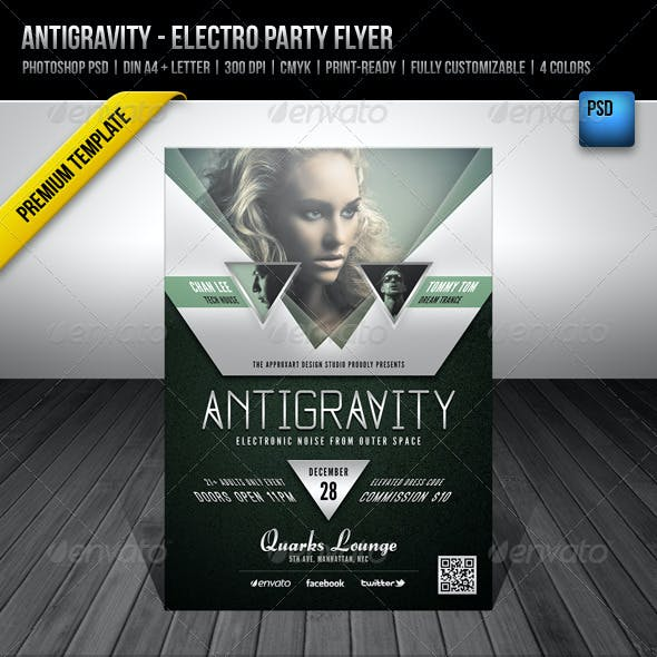 Antigravity - Electro Party Flyer