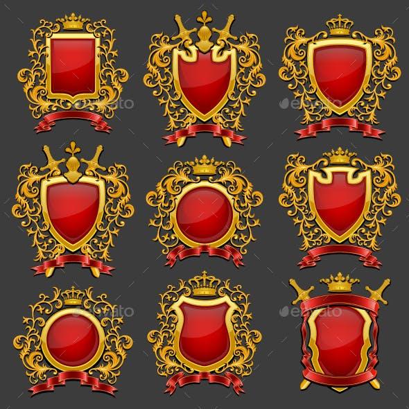Golden Coat of Arms Set