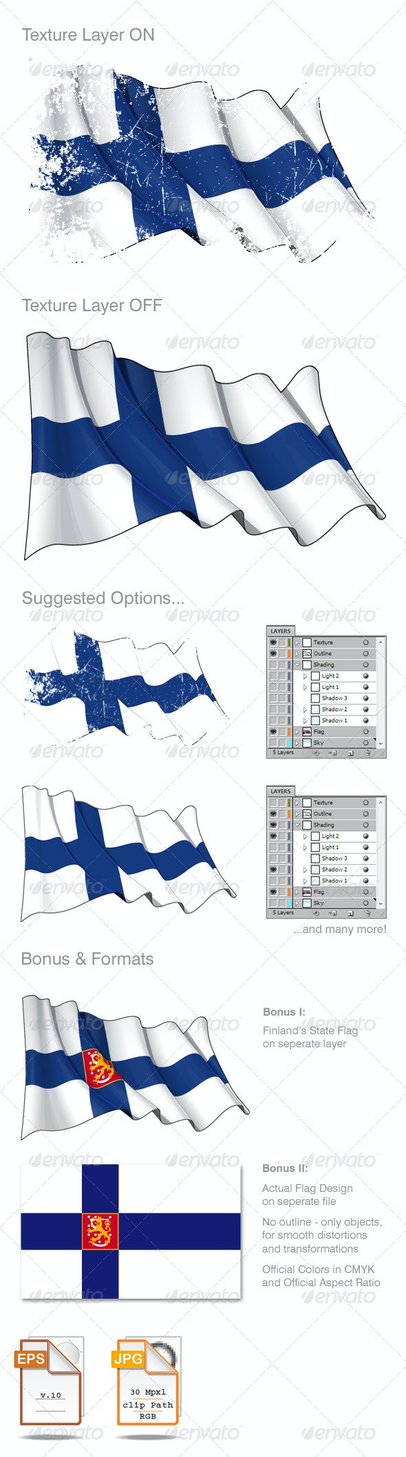 Finland Flag Grunge - Backgrounds Decorative