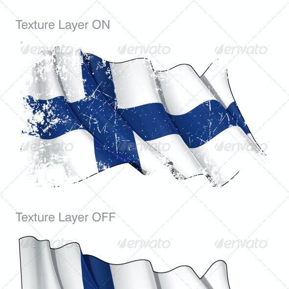 Finland Flag Grunge