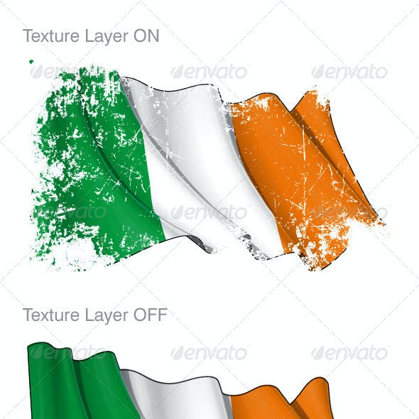 Ireland Flag Grunge