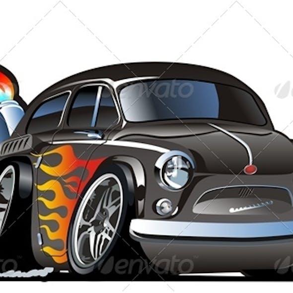 Cartoon Retro Hotrod