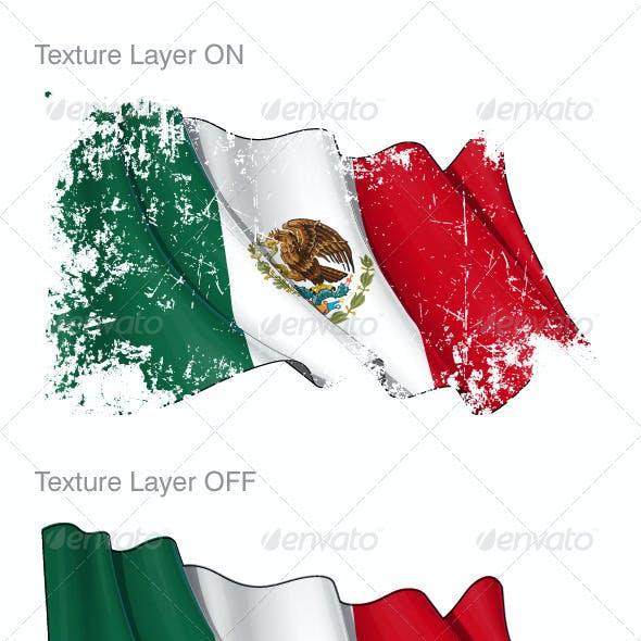 Mexico Flag Grunge