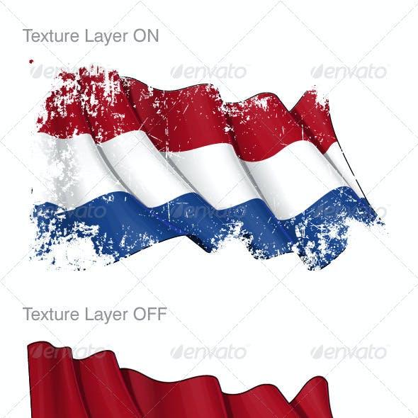 Netherlands Flag Grunge