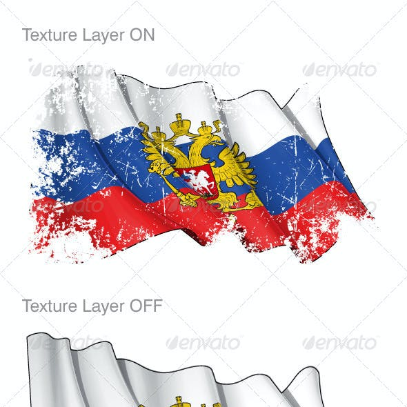 Russia Flag Grunge