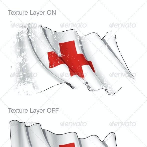 Red Cross Flag Grunge