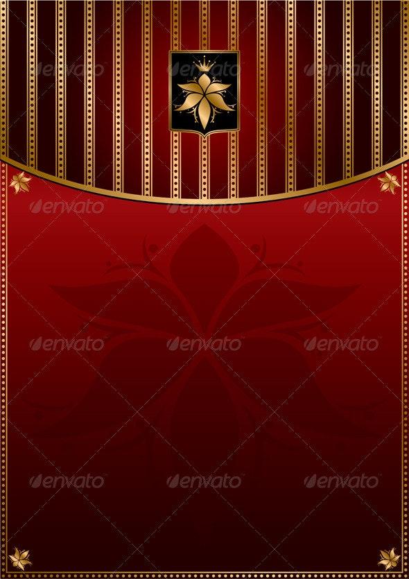 Dark red gold vintage background - Backgrounds Decorative