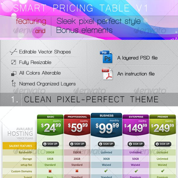 Smart Pricing Table V1