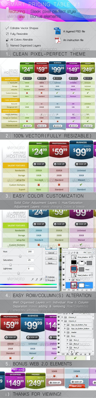 Smart Pricing Table V1 - Web Elements
