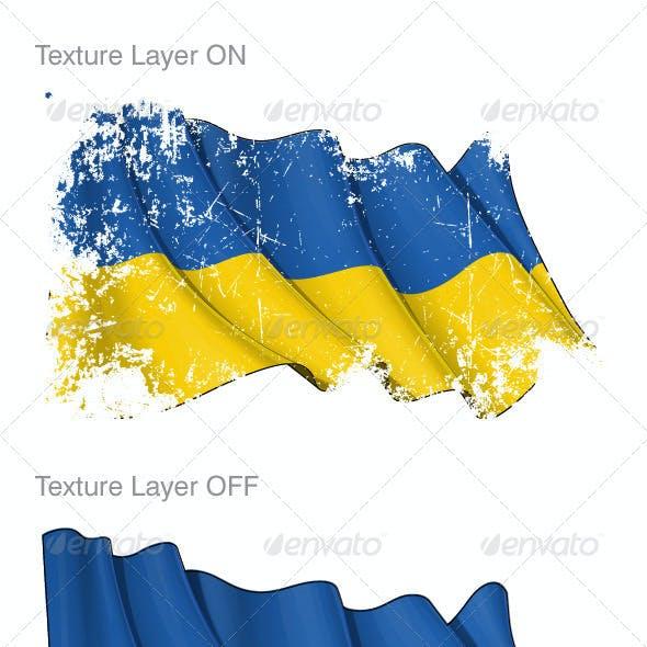 Ukraine Flag Grunge