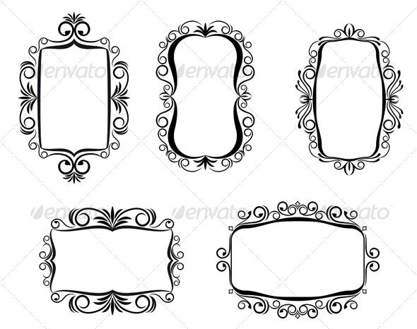 Vintage frames - Flourishes / Swirls Decorative