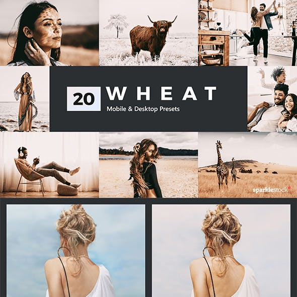 20 Wheat Lightroom Presets and LUTs