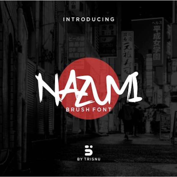 Nazumi - Brush Font