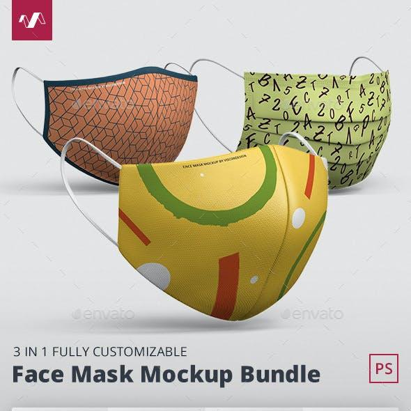 Face Mask Mockup Bundle