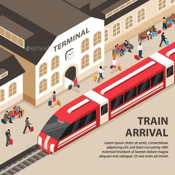 Isometric Railway Illustration