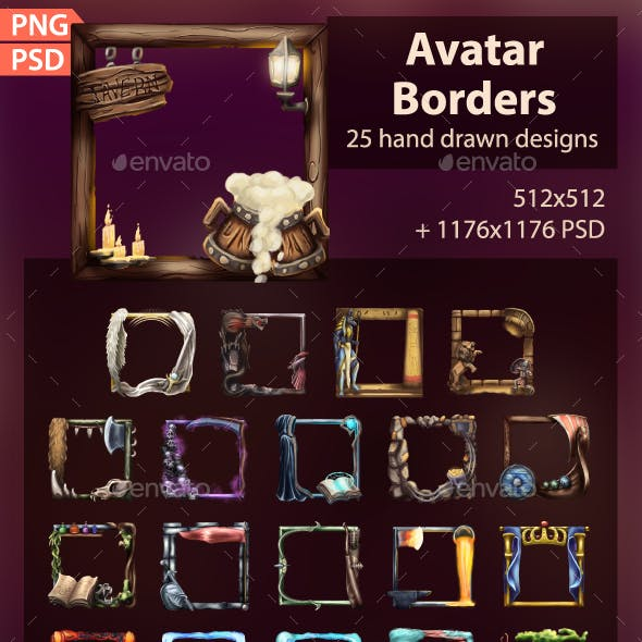 Stylized Avatar Borders
