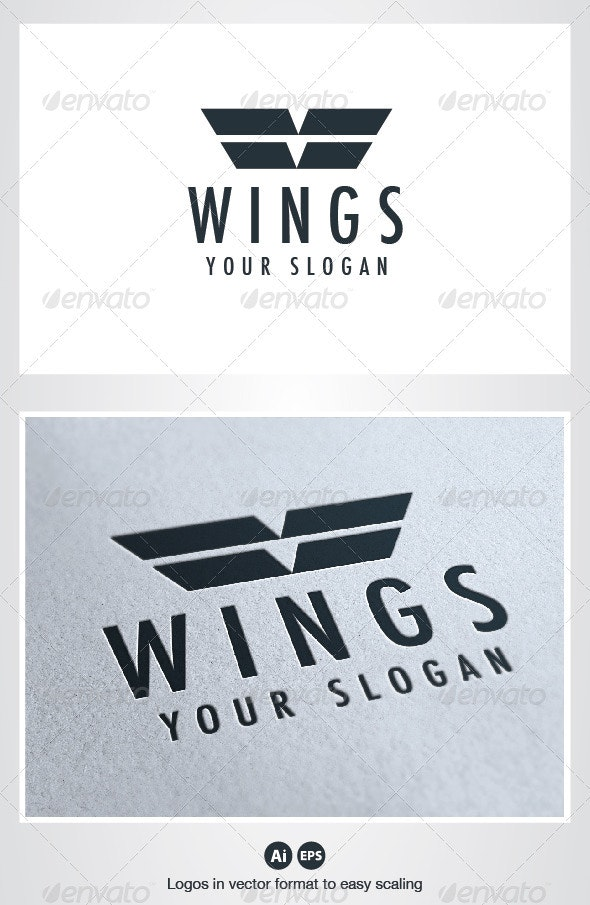 Wings Logo - Crests Logo Templates