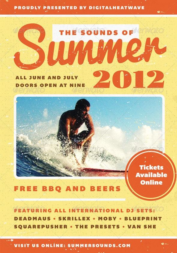 Summer Sound - Summer Flyer Template - Clubs & Parties Events
