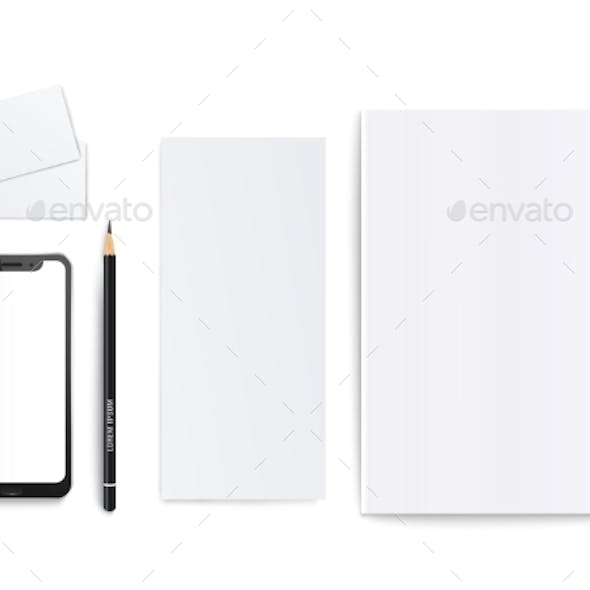 Branding Set of Template with Blank and Clean