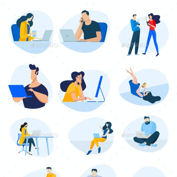 Flat Design Concept Illustrations