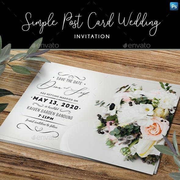 Simple Post Card Wedding Invitation