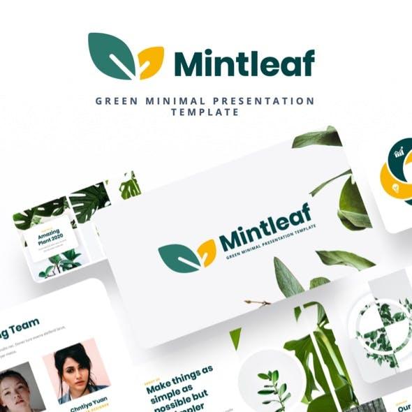 Mintleaf - Minimal Green Powerpoint Template