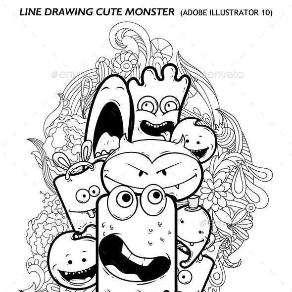 Line Drawing Monster 1