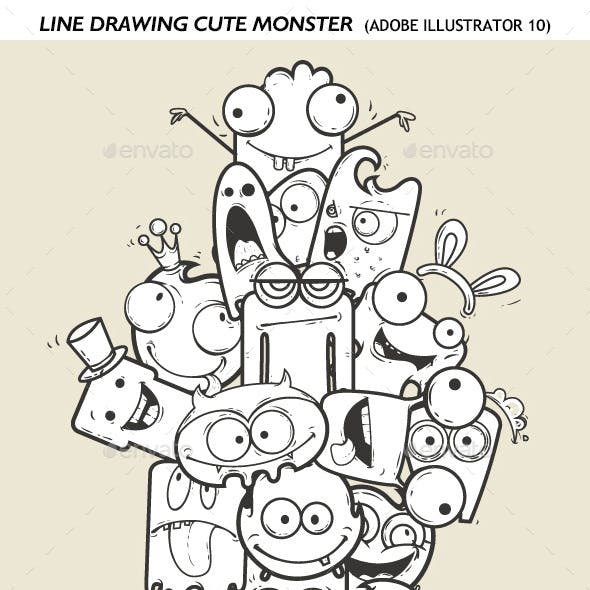 Line Drawing Monster 2