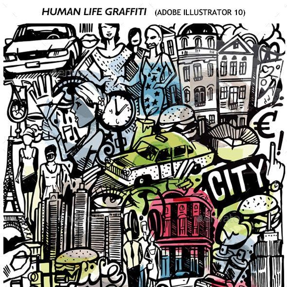Human Life Graffiti