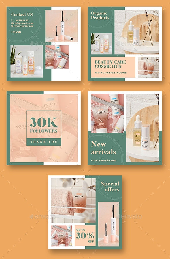 Cosmetic Shop Social Media Banner By Peachline Graphicriver