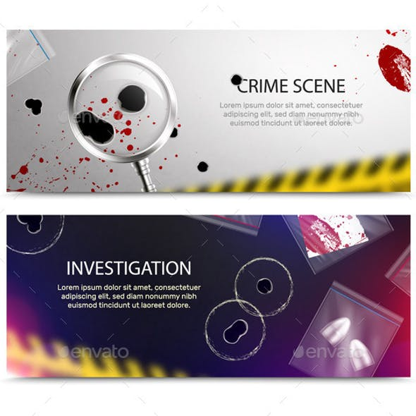 Crime Scene Horizontal Banners