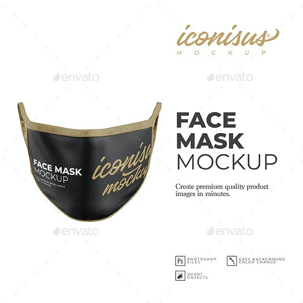 Face Mask Mockup Template