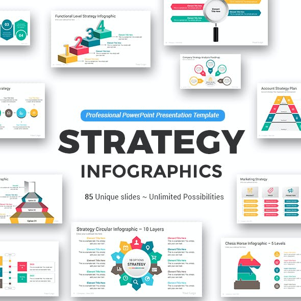 Strategy PowerPoint Infographics Pack