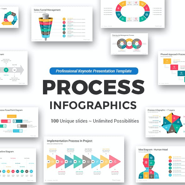 Process Keynote Infographics Pack