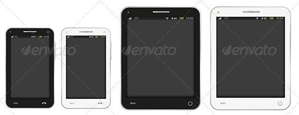 Mobile Phone and PC Tablet - Technology Conceptual