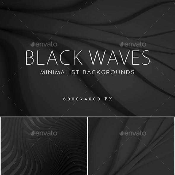 Black Minimalist Wave Backgrounds 1