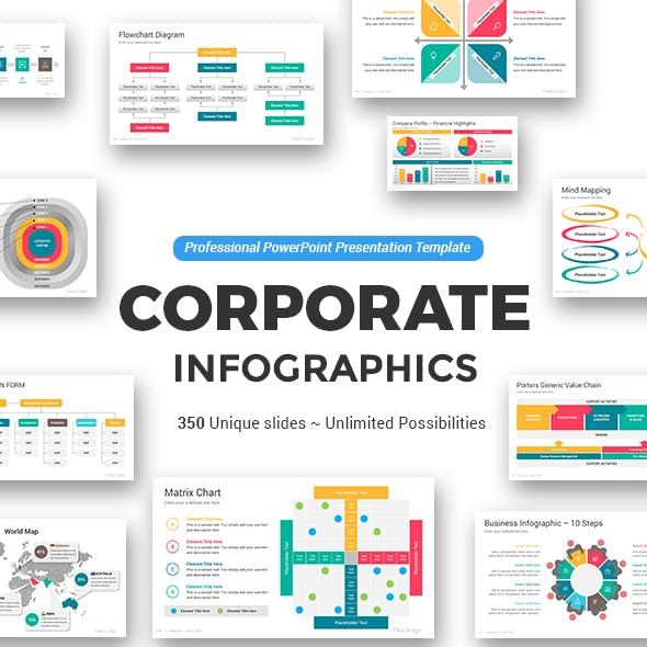 Corporate PowerPoint Infographics Template Pack