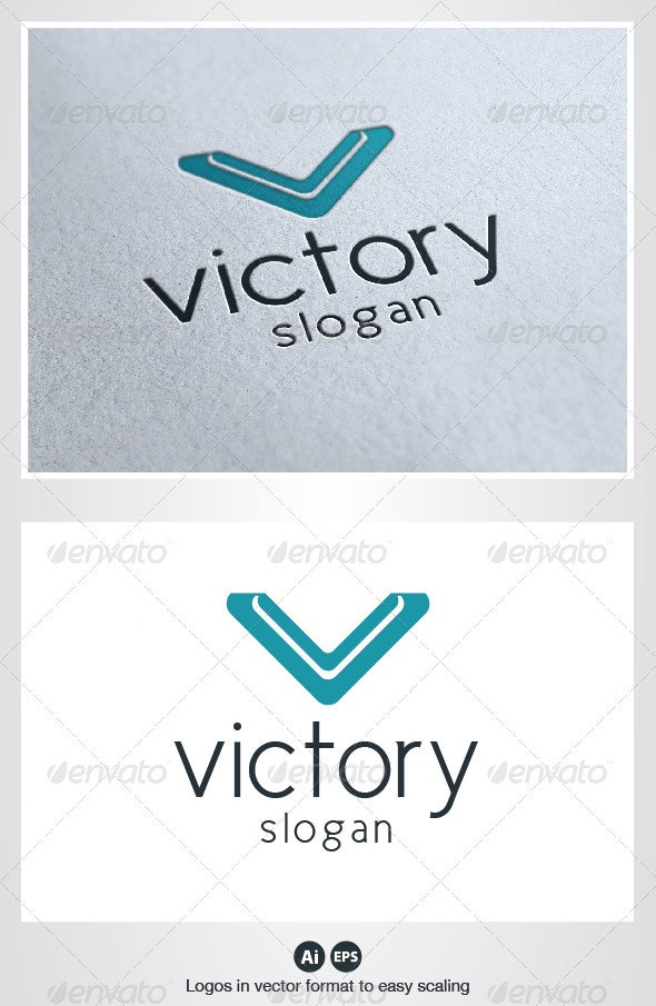 Victory Logo - Letters Logo Templates