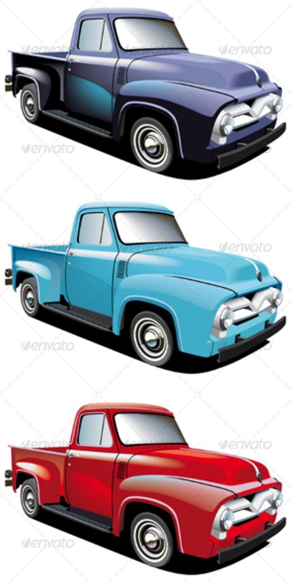 Retro style pickup - Retro Technology