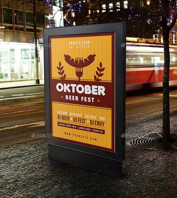 Oktoberfest Poster - Signage Print Templates