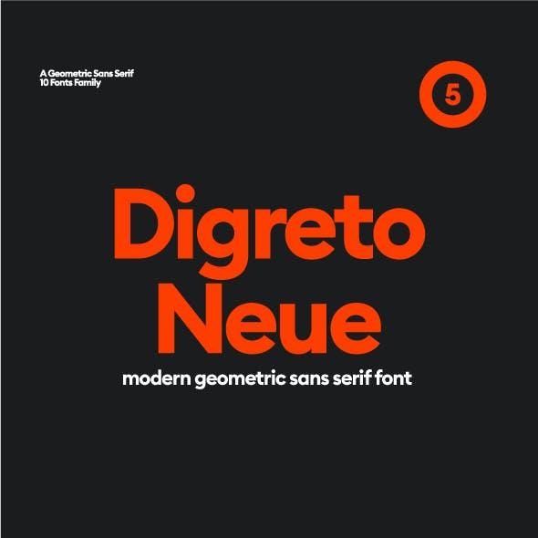 Digreto Neue Geometric Sans Font