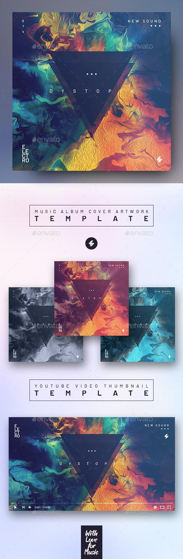 Electro Dystopia – Music Album Cover Artwork / Video Thumbnail Template - Miscellaneous Social Media