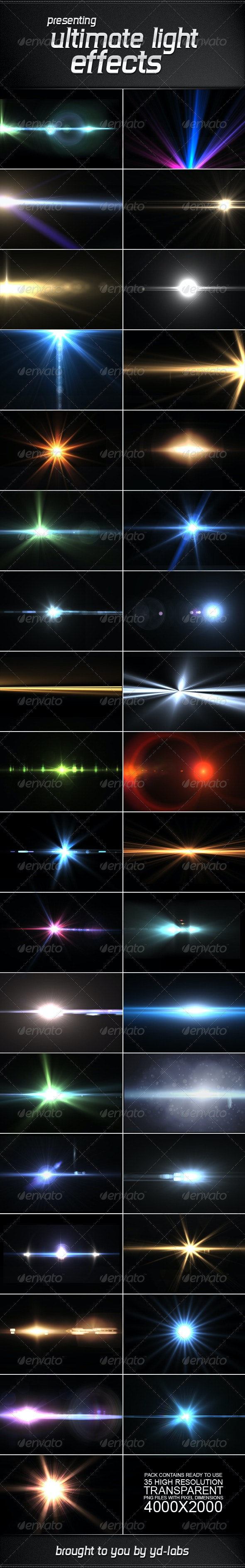35 Ultimate Light Effects Volume 2 - Decorative Graphics