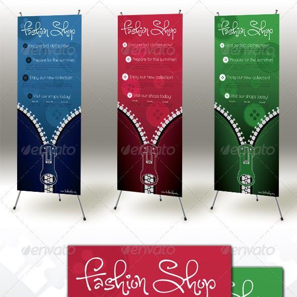 Zipper Roll-up Banner