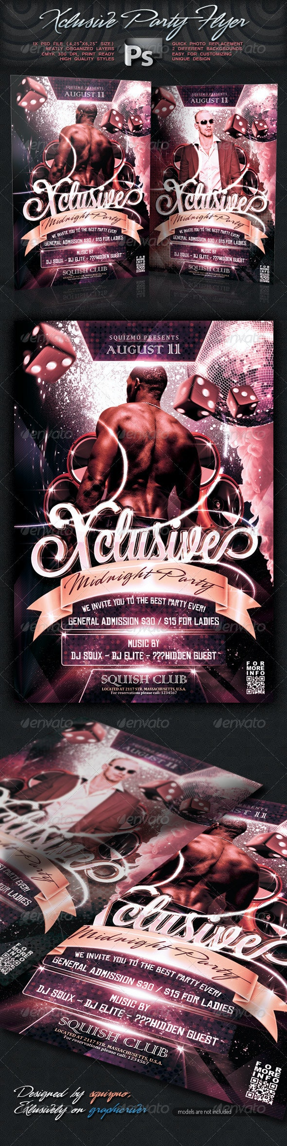 Xclusive Party Flyer - Clubs & Parties Events