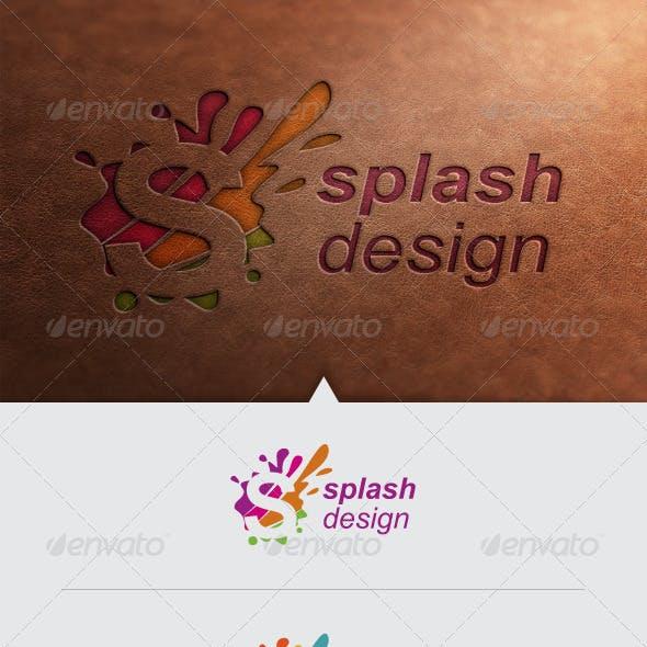 Splash Design Logo Template