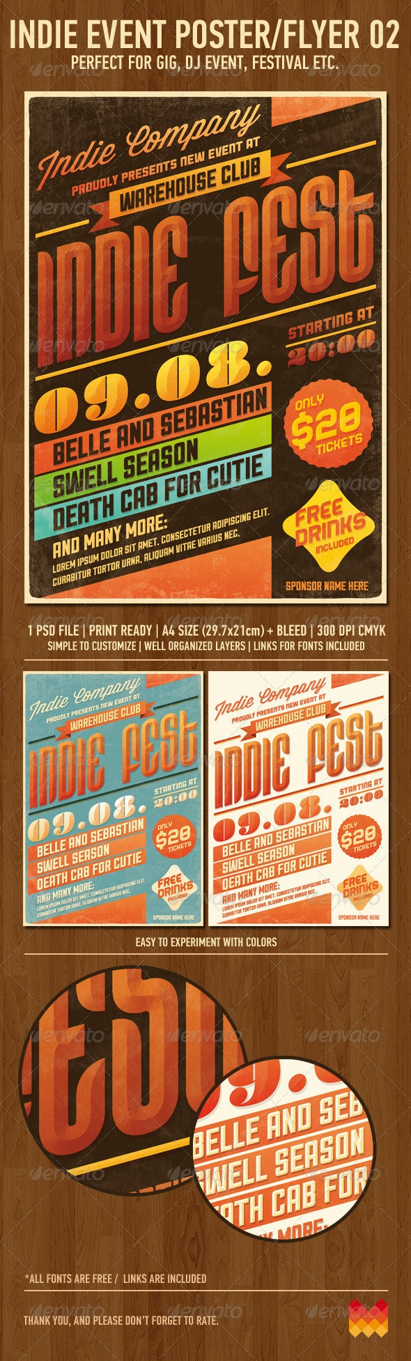 Indie Event Flyer/Poster No2 - Events Flyers