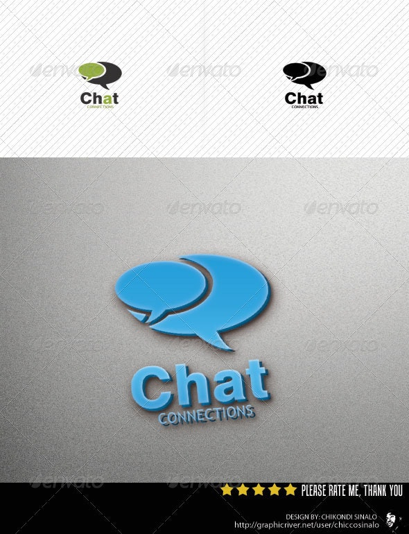 Chat Connections Logo Template - Abstract Logo Templates